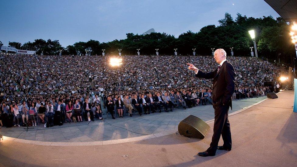 Michael Sandel en Seúl, Corea del Sur.