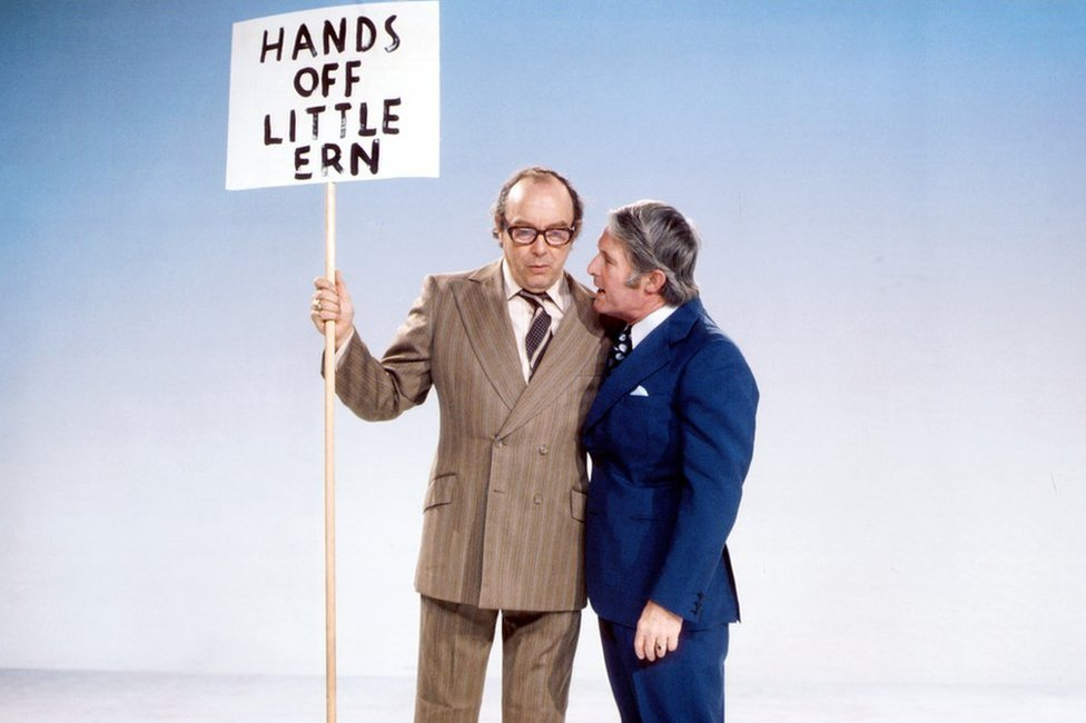 Eric Morecambe and Ernie Wise in 1975