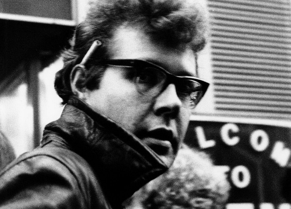 Johnny Green, road manager of The Clash outside Cinema Blue in Dean Street, Soho, London, 2 November 1978