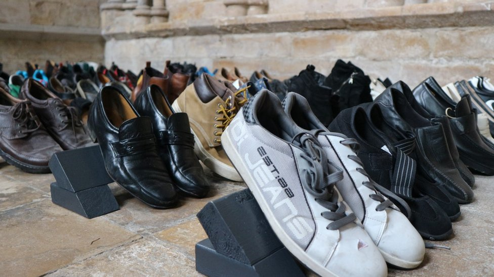 Lincoln Cathedral shoe exhibition remembers road death victims