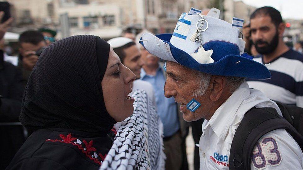 Palestinos e israelíes