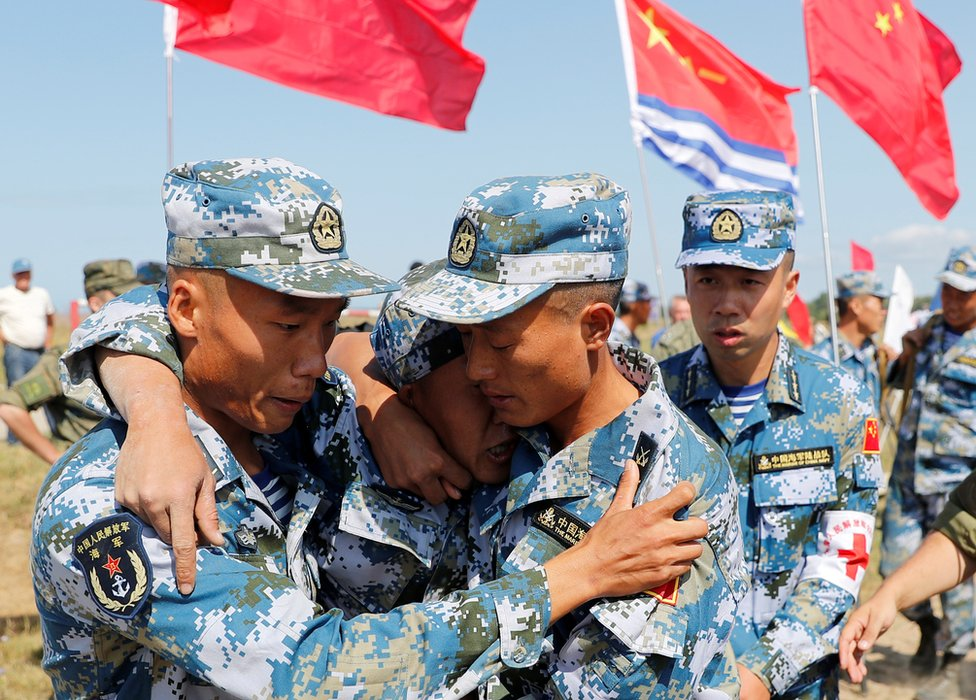 中國海軍陸戰隊3個旅的總兵力為14000人,另有兵力為4000人的支援和訓練部隊。