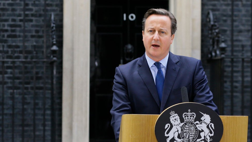 David Cameron speaking outside Number 10 Downing Street