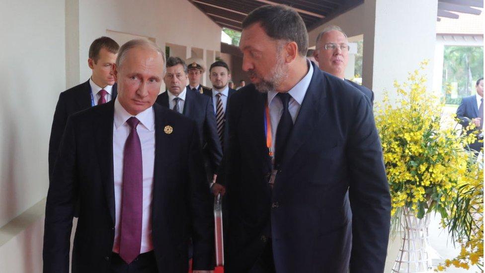 Deripaska y Putin