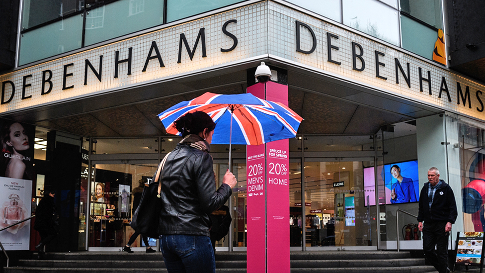 Debenhams sales hit by 'Beast from the East'