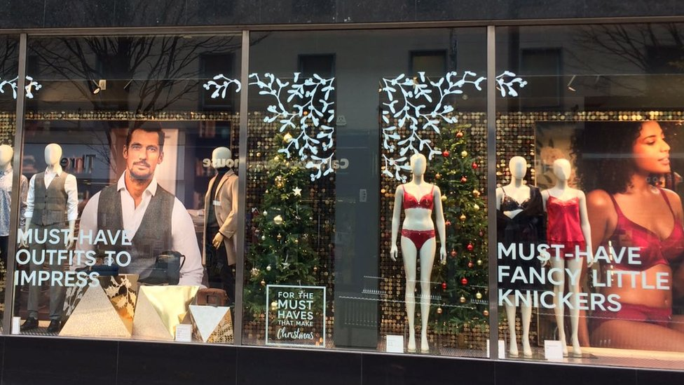 M&S window display in Nottingham