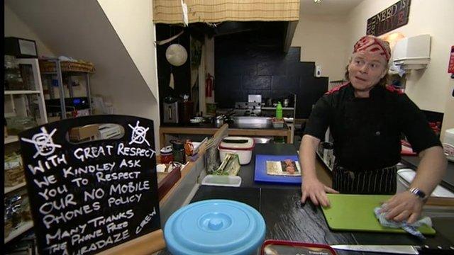 Chef Darren Yates has banned mobile phones in his restaurant