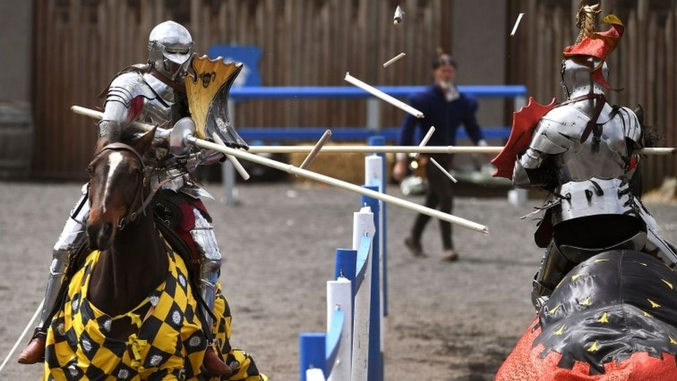 Jousters battle in Victoria, Australia