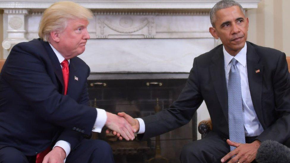 Trump y Obama
