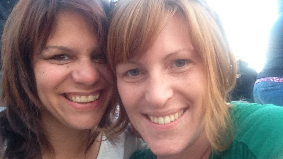 Lee Battle (left) and her partner Anne (right)