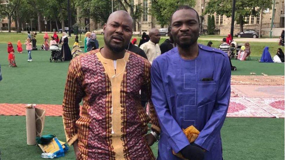 Razak Iyal (L) and Seidu Mohammed (R)