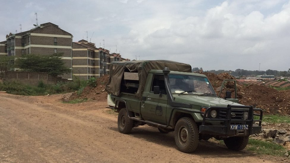 A KWS vehicle in Nairobi