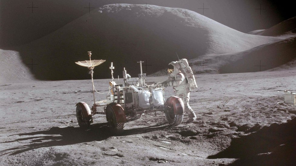 Dejvid Skot na Mesecu 1971. godine