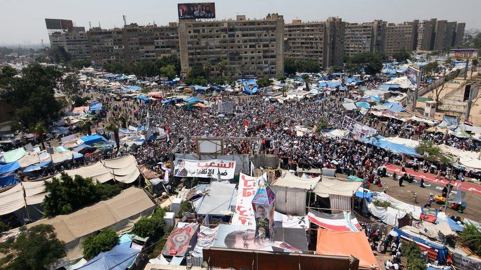 اعتصام لأنصار مرسي عام 2013