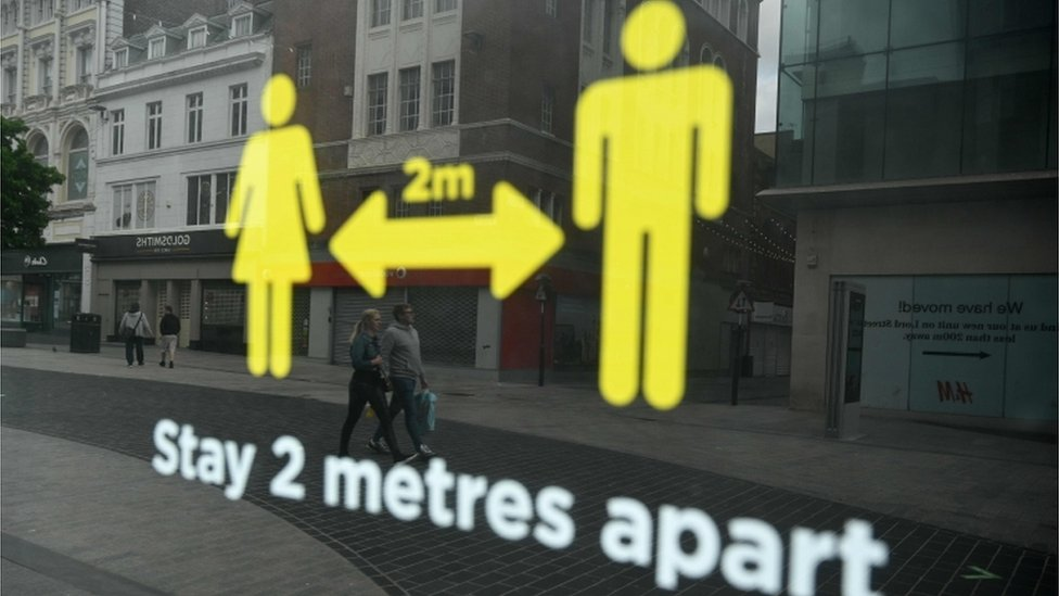 two metres sign