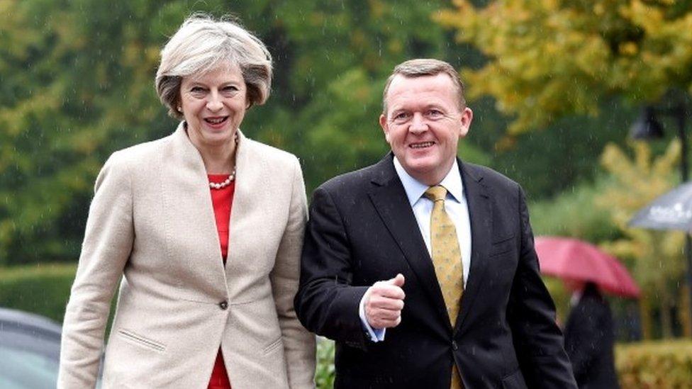 Theresa May and Lars Rasmussen