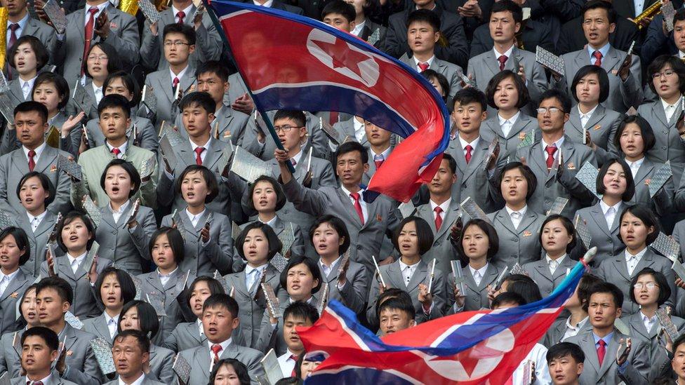 مشجعو كوريا الشمالية