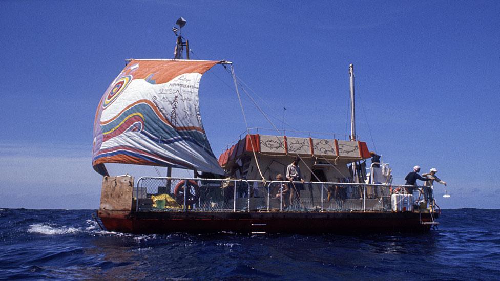 La balsa Acadi en 1973