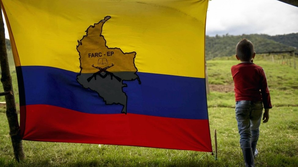 Boy with Farc flag in Colombia