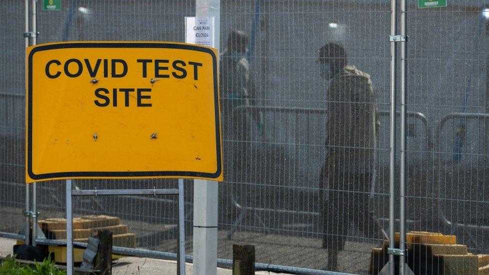 A Covid test centre in Sparkhill, Birmingham