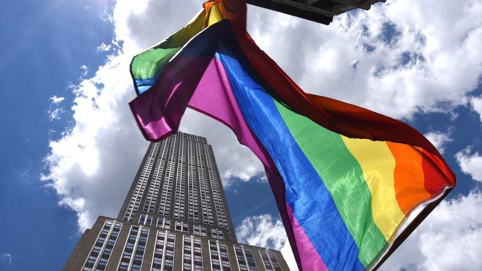 Rainbow flag in New York