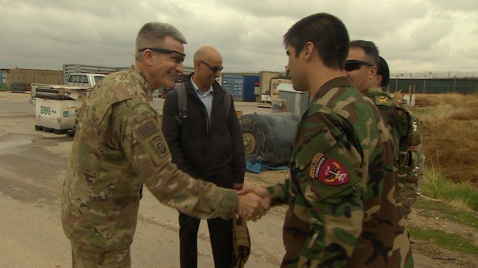 Gen Nicholson meets an Afghan commando