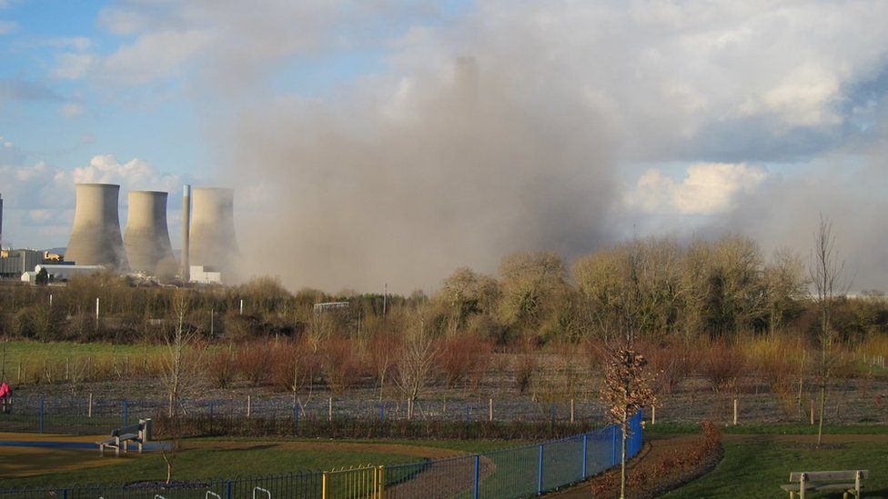 Dust from Didcot collapse