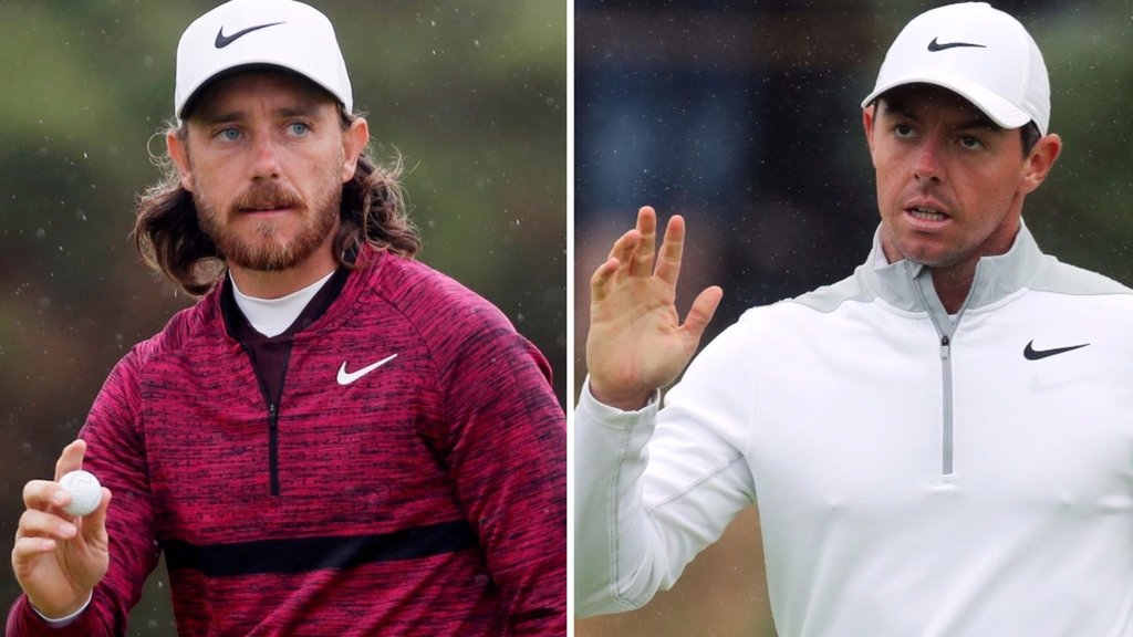 Fleetwood & McIlroy in Open contention as Johnson & Kisner lead