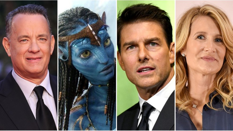 Tom Hanks, Zoe Saldana, Tom Cruise and Laura Dern