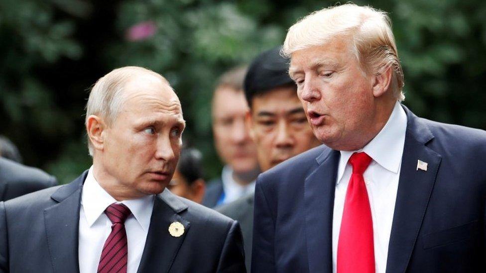 Putin y Trump, fotografiados en 2017 en Vietnam