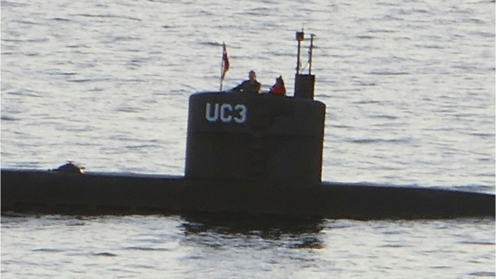 Kim Wall on board Peter Madsen's submarine in Copenhagen harbour on 10 August 2017