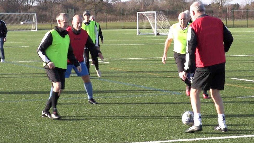 Walking football: Soccer for the sedate