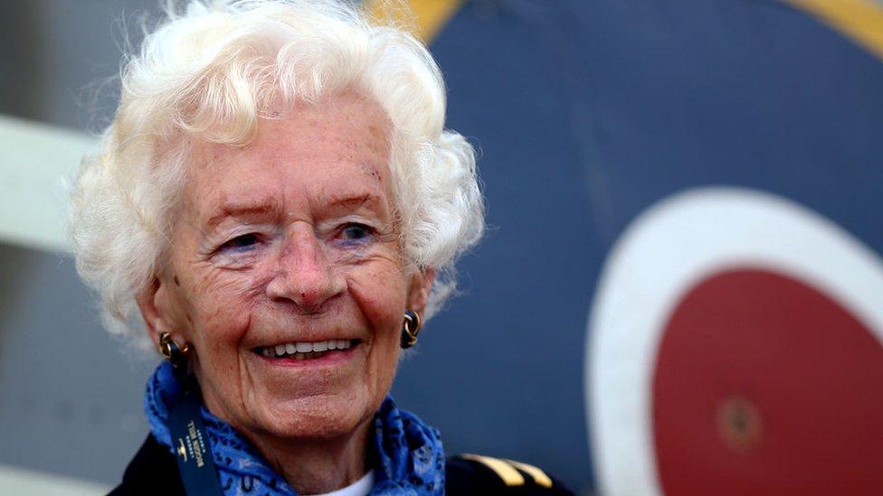 Memorial held for WW2 Spitfire pilot Mary Ellis