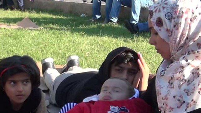 Syrian migrants in Edirne