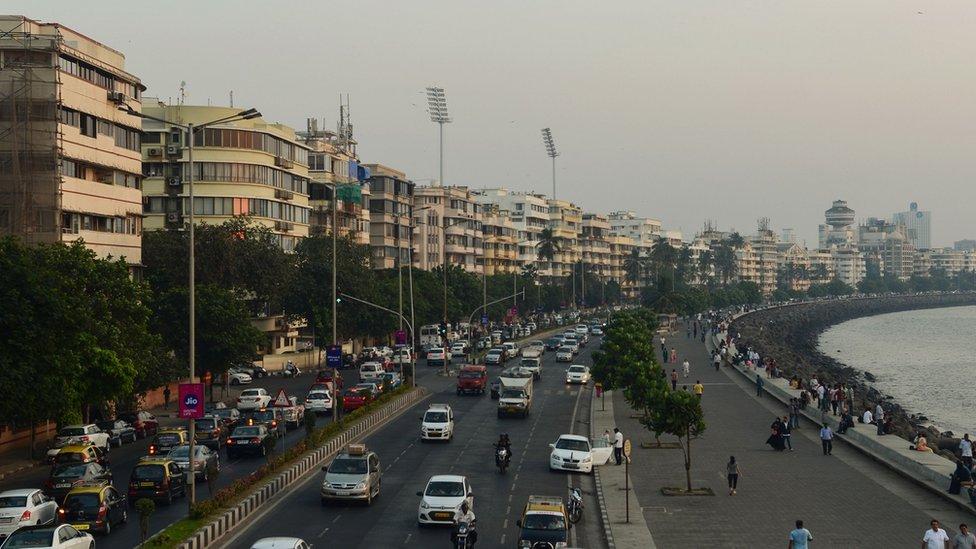 Marine Drive seafront in Mumbai