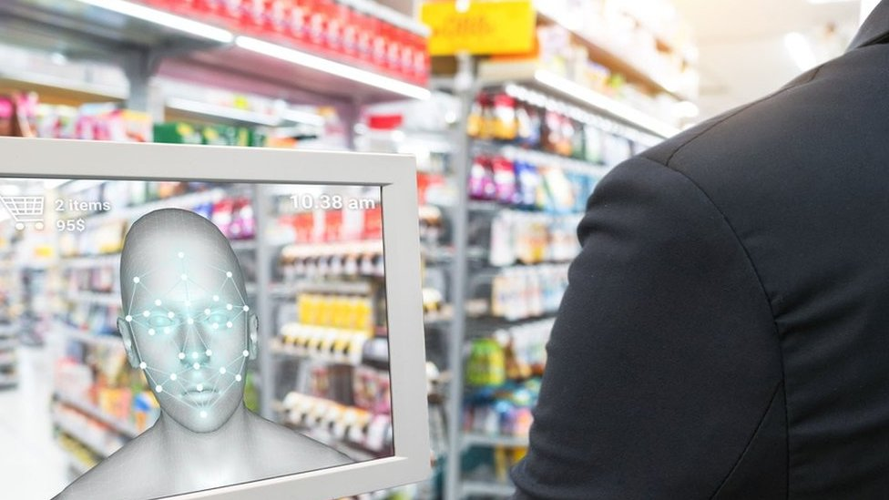 Facial recognition in a shop