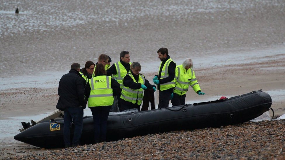 The UK Force with a boat at the Kent coast
