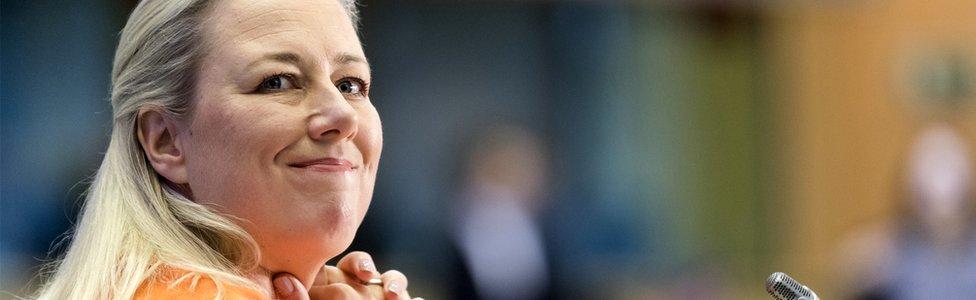 European Commissioner-designate in charge of International Partnerships Jutta Urpilainen at the European Parliament in Brussels, Belgium, 1 October 2019
