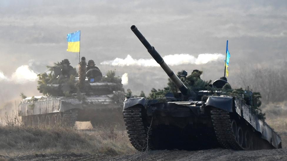Ukrainian tanks on exercises, Zhytomyr, 21 Nov 18