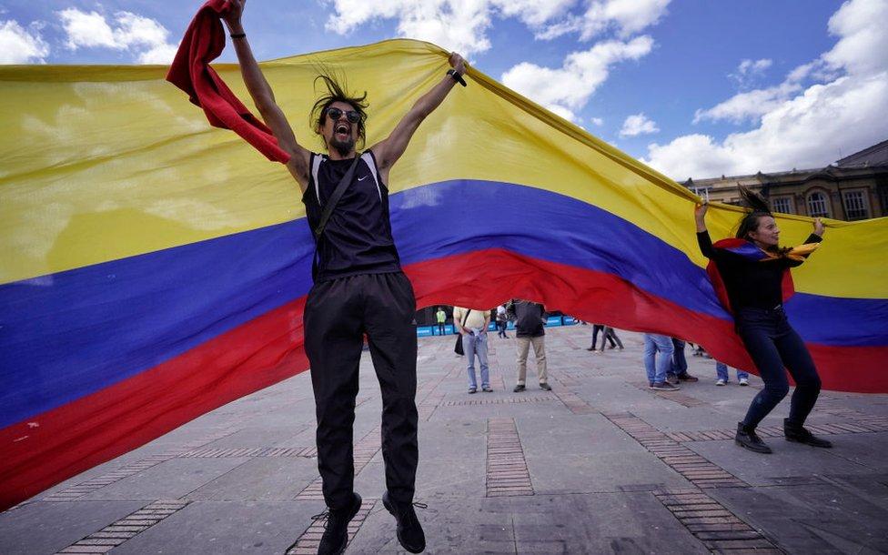 Manifestación en Colombia.