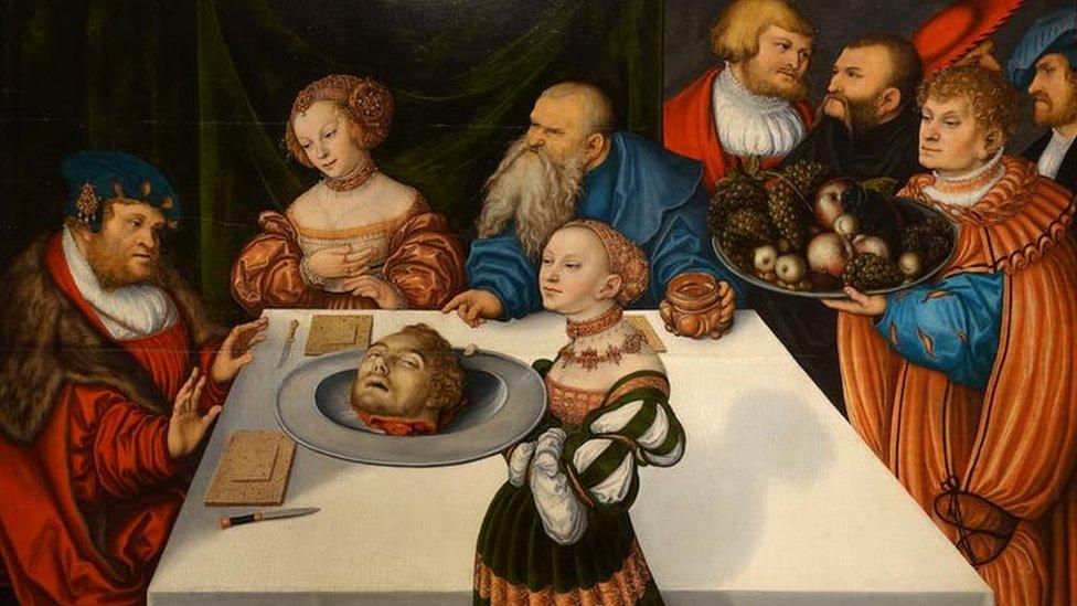Banquete de Herodes, de Lucas Cranach o Velho (1531), Hartford, Connecticut