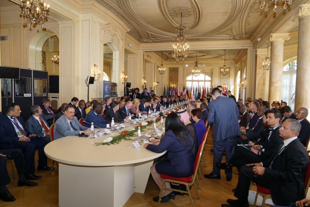 جلسة رؤساء وفود الدول خلال مؤتمر ليبيا في باليرمو ، إيطاليا ، في 13 نوفمبر/تشرين الثاني 2018.