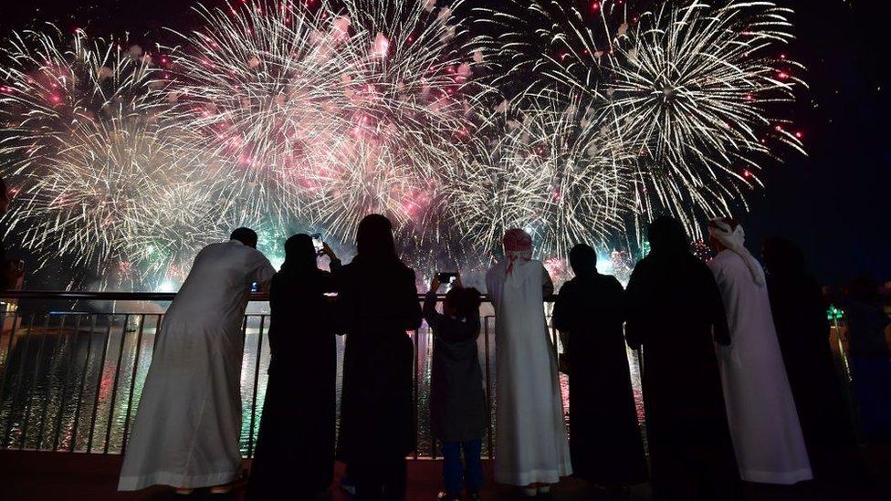 احتفالات دبي بالعام الجديد