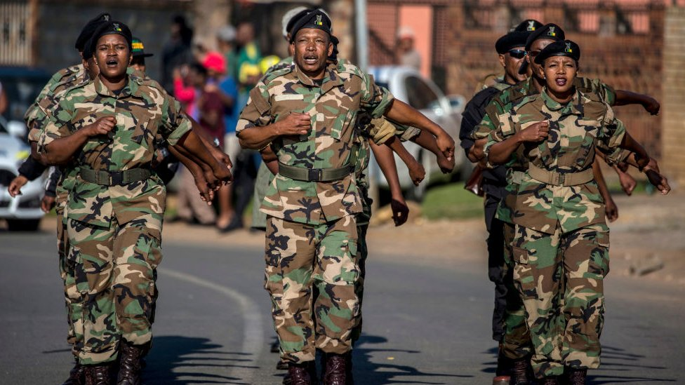 جنود من جنوب أفريقيا