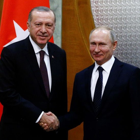 Recep Tayyip Erdogan y Vladimir Putin.