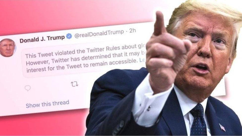 سبق أن اصطدم ترامب مع تويتر قبل ايام