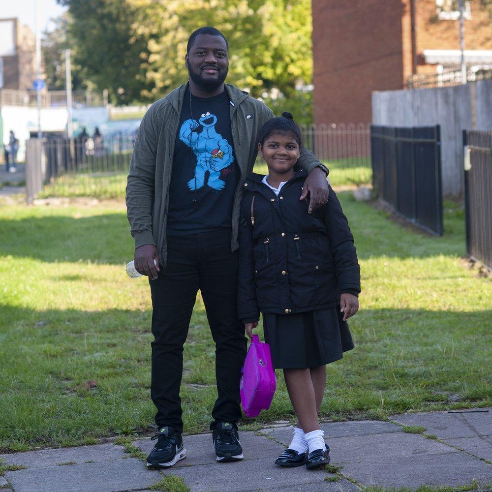 Mickel Baptiste avec sa fille Alyssa
