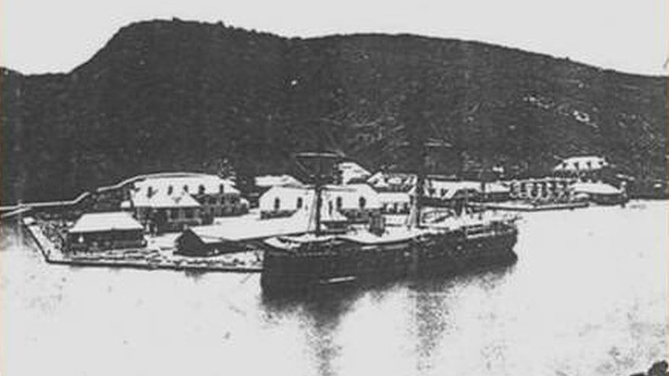 HMS Blanche in a picture dating from about 1870