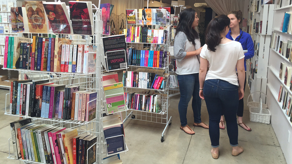 Customers at The Ripped Bodice