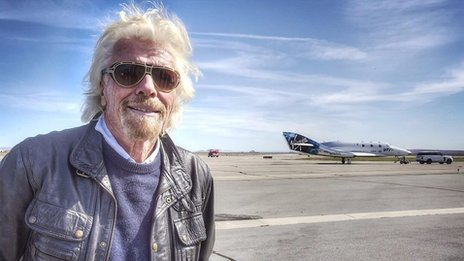 Virgin boss Sir Richard Branson readies himself for space